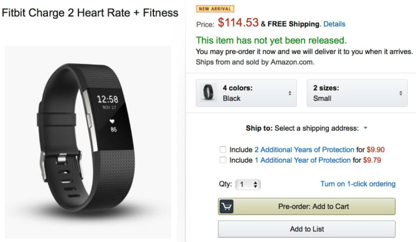 Black friday amazon fitbit
