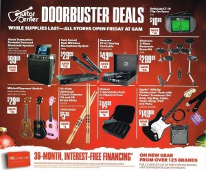 Black friday guitar center