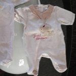 Pyjama velours fille 1 mois
