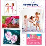 Carte invitation anniversaire pyjama party gratuite à imprimer
