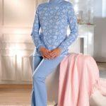 Femme moche en pyjama