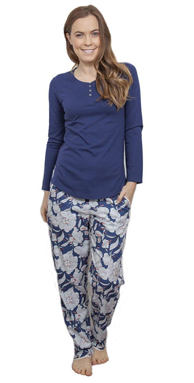 Pyjama femme bleu marine
