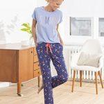 Pyjama femme manches courtes boutonné devant