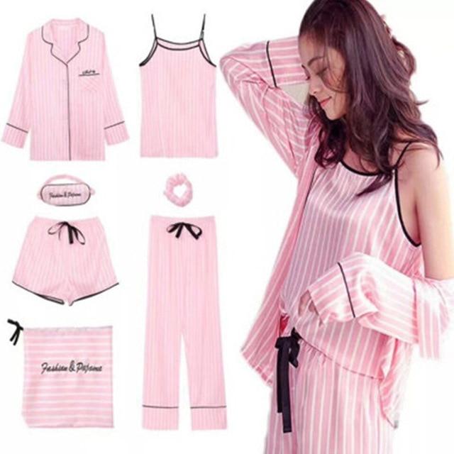 Pyjama femme satin rose