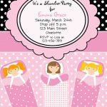 Carte invitation anniversaire fille soirée pyjama