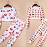 Pyjama femme emoji