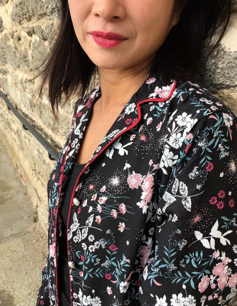 Patron veste pyjama femme