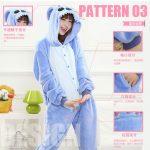 Pyjama une piece stitch