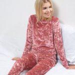 Pyjama femme velours ras