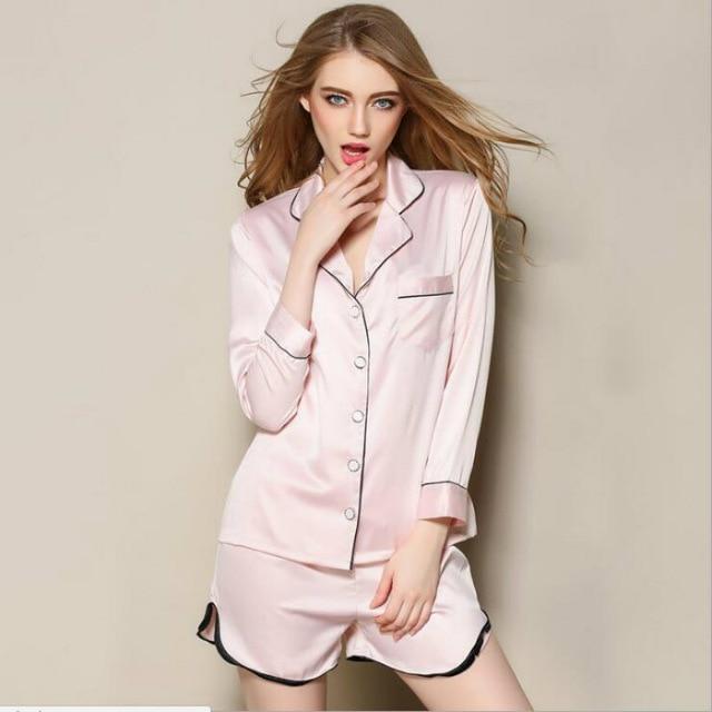 Pyjama femme chemise