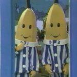 Dessin animé bananes pyjama