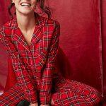 Pyjama ecossais rouge