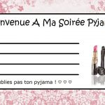 Invitation fille soiree pyjama