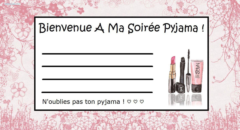Invitation fille soiree pyjama