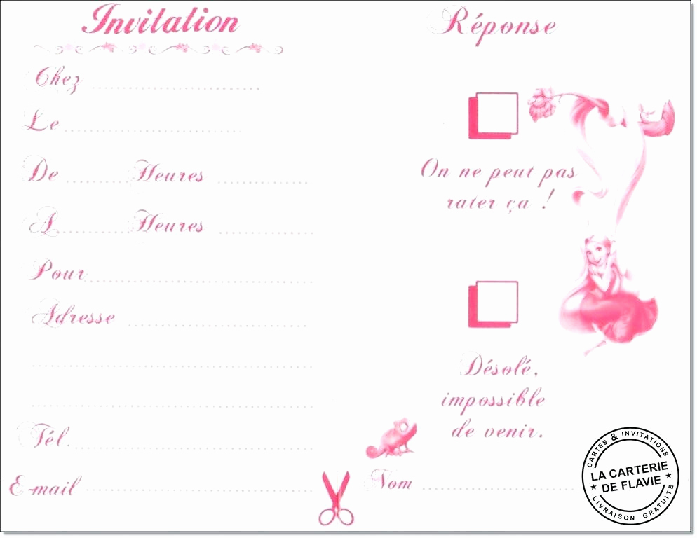 Carte invitation soirée pyjama