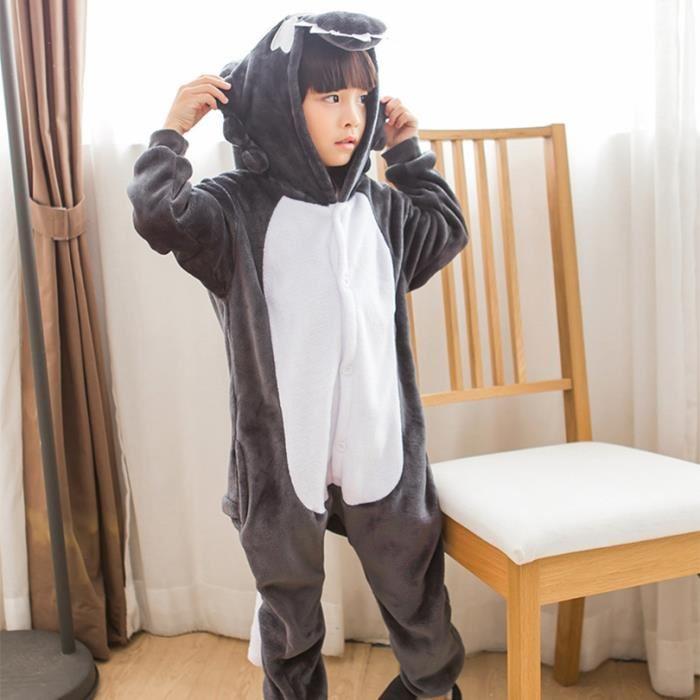Combinaison pyjama homme loup