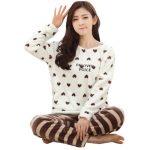 Ensemble pyjama polaire femme