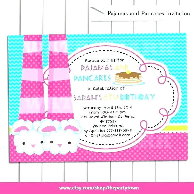 Carte d invitation anniversaire soirée pyjama