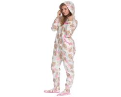 Pyjama capuche femme