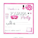 Texte invitation soirée pyjama