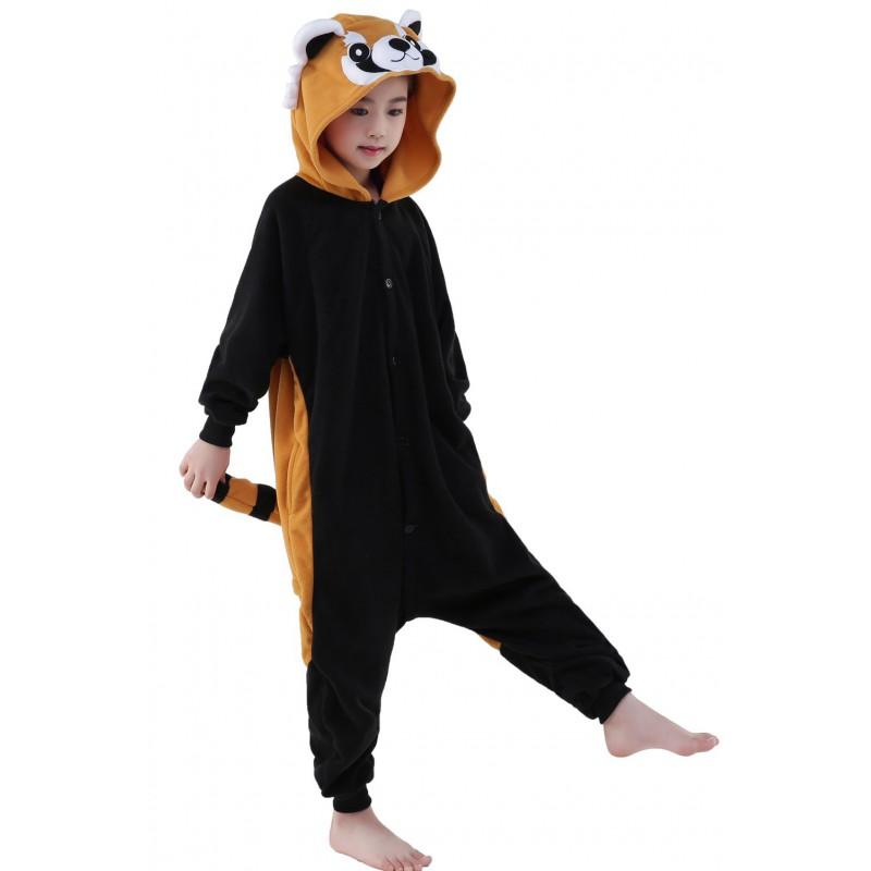 Combinaison pyjama panda roux