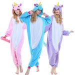 Combinaison pyjama licorne femme