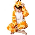 Combinaison pyjama girafe enfant