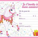 Invitation soirée pyjama cheval