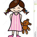 Dessin kawaii fille en pyjama