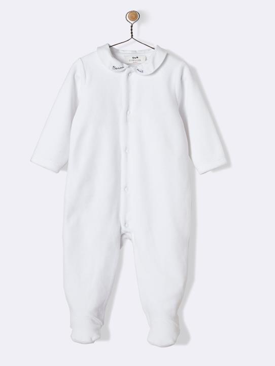 Pyjama velour bébé