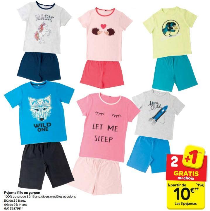 Carrefour pyjama garcon