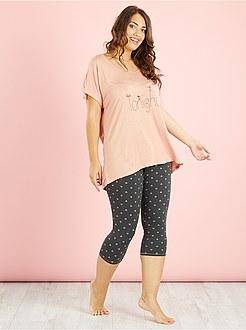 Pyjama femme grande taille kiabi