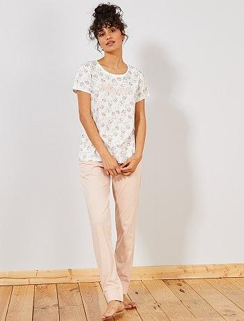 Pyjama femme carrefour