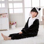Combinaison pyjama panda fille