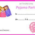 Invitation soiree pyjama ado