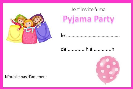 Anniversaire pyjama party fille - Soldes en image