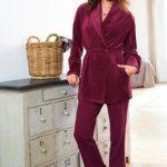 Pyjama d'intérieur femme velours