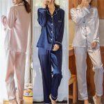 Pantalon pyjama femme satin