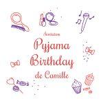 Carte invitation soirée pyjama fille