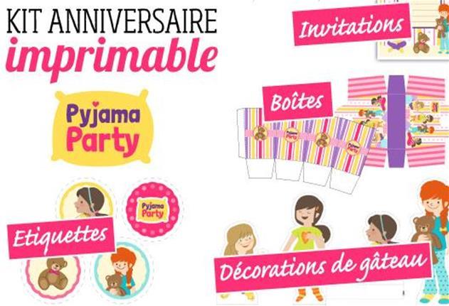 Invitation pour pyjama party a imprimer